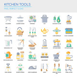 Kitchen Tools , Thin Line and Pixel Perfect Icons. - 219245310