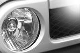 Gray car front light