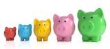 3D bunte Sparschweine Freisteller - 219287349