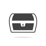 Treasure chest icon vector isolated - 219288323