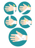 First Aid Hand Bandaging Kids Training - 219290953