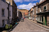 Staithes, North Yorkshire, UK.  A view looking down Staithes Lane. - 219324311