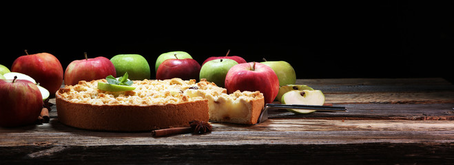 Apple pie or homemade cake with apples. Delicous dessert apple tart © beats_