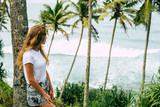 Girl on vacation, Indian ocean. Concept of summer holidays close up - 219343902