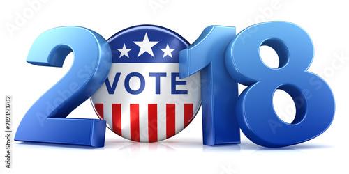 2018 election - 3d rendering