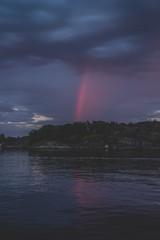Arco iris Nocturno en Noruega © David