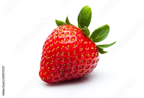 Plakat Ripe Strawberry Isolated on White