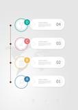vertical infographics 4 steps for business presentation - 219380344