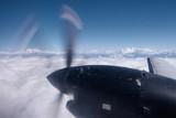 The Himalayas from a propeller plane, Nepal. Flight Kathmandu to Pokhara. - 219383347