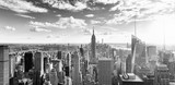 View of Manhattan from the skyscraper's observation deck. New York. - 219402983