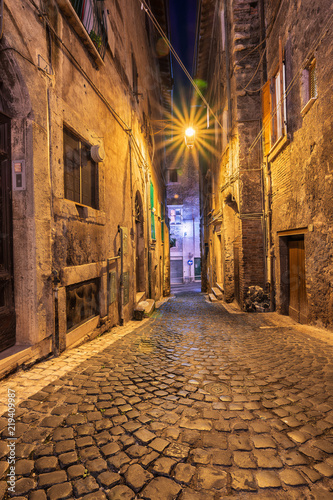 Fototapeta Tivoli Street at the evening Time, An Ancient Town Famous and full History Place