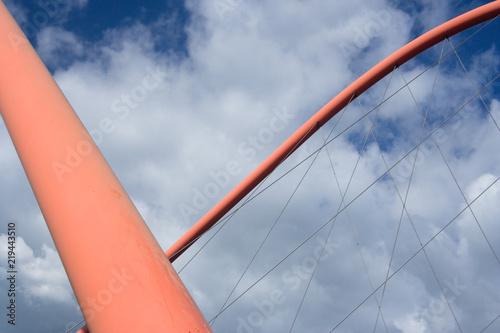 Abstract Suspension Bridge Arches