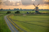 Windmill in Holland  - 219456938