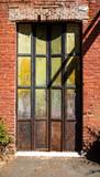 Old doors in California gold rush town