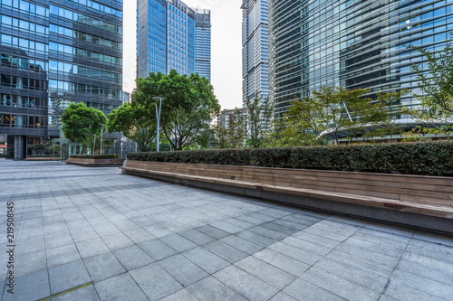 modern buildings and empty pavement in china buy photos ap