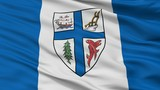 New Westminster City Flag, Country Canada, British Columbia Province, Closeup View - 219529573