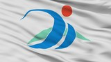 Miyakojima City Flag, Country Japan, Okinawa Prefecture, Closeup View - 219542343