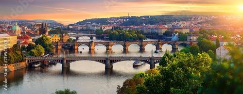 Leinwanddruck Bild Overview of old Prague