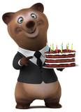 Fun bear - 3D Illustration - 219557789