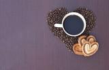 Coffee mug in the heart