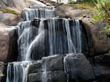 Big waterfall in the Park of Kotka, Finland