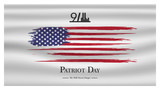 Patriot day USA Never forget 9.11  poster. Patriot Day, September 11, We will never forget - 219611711