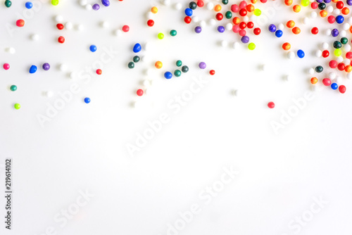colorful sweet candy banner background for party birthday celebration xmas new year