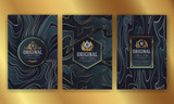 Premium Luxury Packaging Design With Heraldic Emblem Label - 219633361