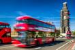 Red double decker in London