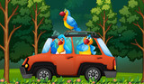 A group parrot on the car - 219635934