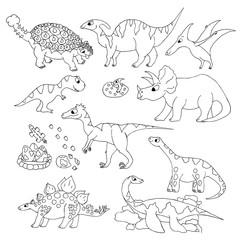 Hand drawn dinosaur vector illustration