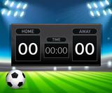 A soccer scoreboard template - 219636187