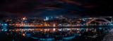 luces nocturnas de la ciudad de oporto