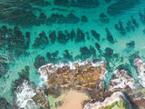 Beautiful reef from above