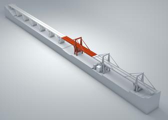 Ponte Morandi di Genova, ponte crollato, scarsa manutenzione. Ricostruzione e demolizione di tutto il ponte. Italia. Regione Liguria © Naeblys