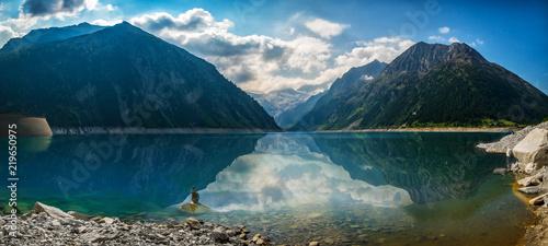 Ausblick auf den Schlegeisspeicher See in Österreich