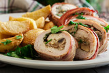 Chicken breast stuffed with champignon - 219651111