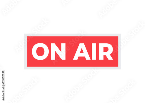 broadcast studio on air light on air sign radio and television