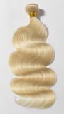 Body wavy bleached blonde human hair weaves extensions bundle - 219676798