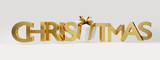christmas golden bold letters 3d-illustration - 219679544