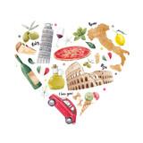Italian heart illustration - 219688359