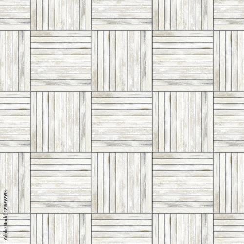 Seamless White Parquet Floor Texture