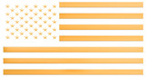 American flag from gold, 3D rendering - 219705169