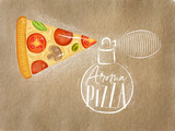 Poster aroma pizza craft - 219707986