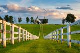 Scenic horse barn along Kentucky's back roads - 219710394