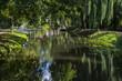 Leinwanddruck Bild - Die Berkel in Borculo, Niederlande