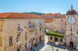 Leinwanddruck Bild - Aerial view of Trogir in summer, Croatia