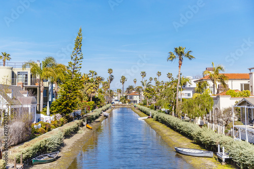 Canals and Houses in Venice, Los Angeles, California
