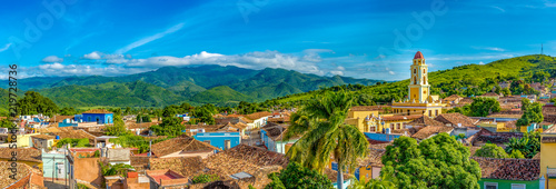 Leinwanddruck Bild Trinidad, Cuba: Aerial view of the former Saint Francis of Assisi Convent