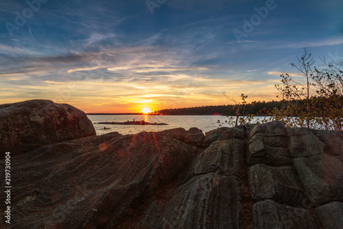 Fototapeta Sunset over Georgian Bay